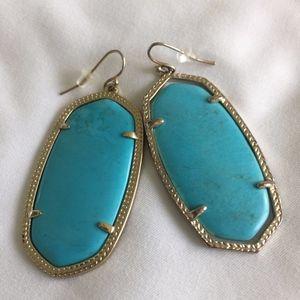 Kendra Scott Danielle Earrings Turquoise withGold
